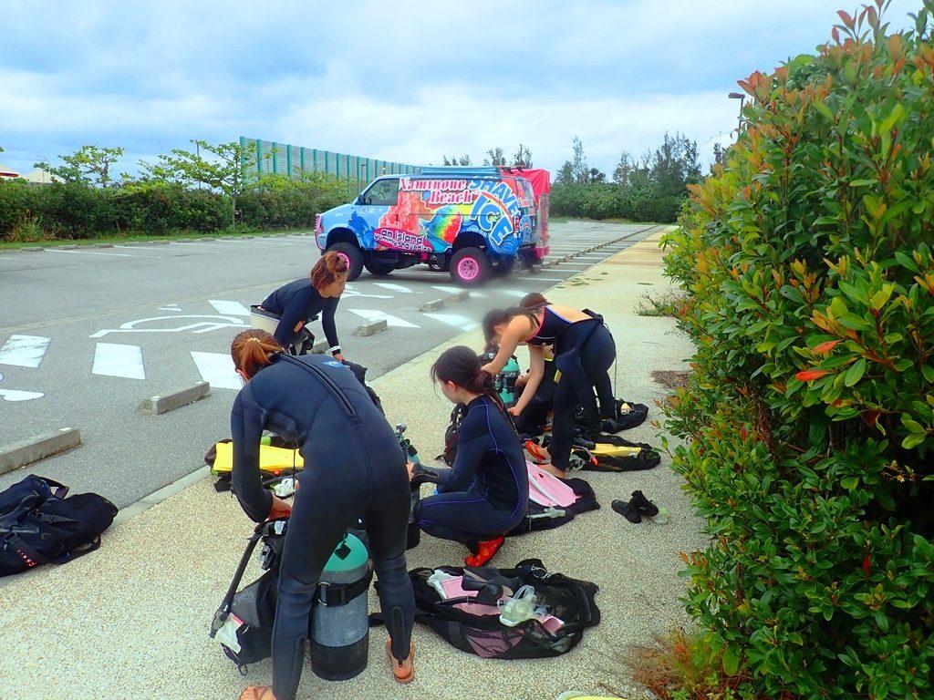 沖縄でダイビングのライセンスゲット旅!1日目☆